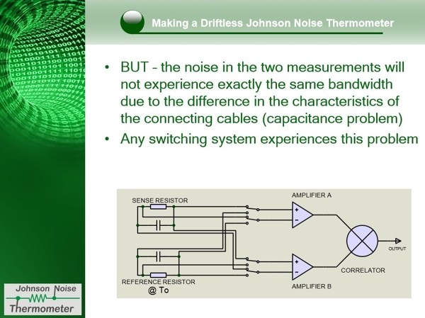 Making a driftless Johnson Noise Thermometer